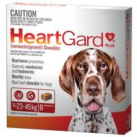 Heartgard Plus Chewables Dogs 23 - 45 Kg = 50 - 99 lbs - 6 month pack